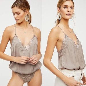 Free People HBD Lace Cami Bodysuit